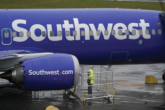 A May 2020 file photo of a Southwest Airlines airplane. On Wednesday, the 7th U.S. Circuit Court of Appeals revived a Fair Labor Standards Act lawsuit of a Southwest ramp supervisor out of Midway International Airport. The court agreed with the plaintiff, Latrice Saxon's, argument that as a baggage handler she's considered a transportation worker.
