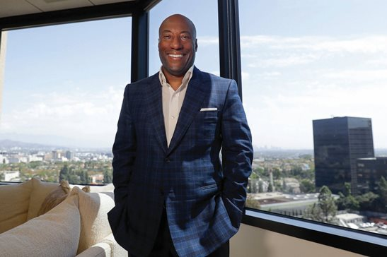 Comedian and media mogul Byron Allen poses for a picture in September in Los Angeles. The Supreme Court threw out a lower court ruling Allen's in favor after he sued Comcast for racial discrimination. The justices agreed unanimously Monday that an appeals court applied the wrong legal standard in allowing Allen's $20 billion lawsuit against Comcast to go forward.