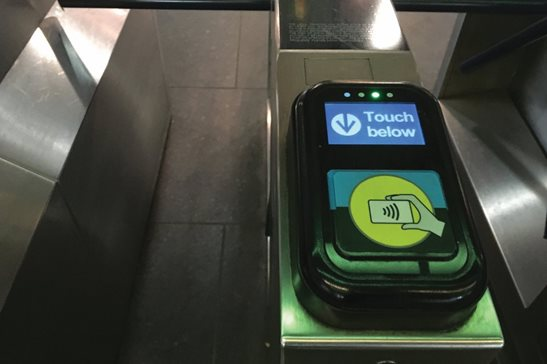 A Ventra turnstile at a CTA station. A woman sued the local transit agencies alleging they won't honor reduced student fares for home-schooled children. A trial judge dismissed the case, and a state appeals panel last week affirmed it.