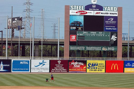 The outfield of Steel Yard in Gary, Ind., home to the Gary SouthShore RailCats minor league ballclub, in a June 2006 file photo. The RailCats were one of four franchises that left the independent Northern League in 2010. That departure led to the league suing its law firm for legal malpractice. A Cook County jury found in favor of that law firm, a result the 1st District appellate court upheld last month.