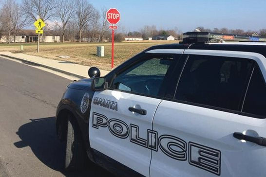 A Sparta police vehicle. The Illinois Supreme Court last week struck down the southern Illinois city's performance review policy that relied in part on how many citations police officers issued, finding it violates an Illinois law prohibiting ticket quotas.