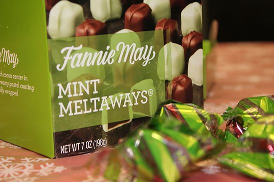 A box of Fannie May Mint Meltaways. Plaintiffs in a dismissed federal lawsuit alleged the longtime Chicago confectioner violated Illinois' consumer-fraud law by leaving too much empty space in its 7-ounce packages. A federal appeals panel affirmed the dismissal of the suit this week.