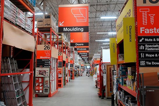 A man's lawsuit against Home Depot can proceed after he alleges merchandising contractors at the Schaumburg warehouse store negligently ran into him with a cart loaded with molding supplies as he bent down to shop.