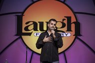 Paul A. Farahvar of Cuisinier & Farahvar Ltd. does stand-up comedy Saturday at The Laugh Factory.