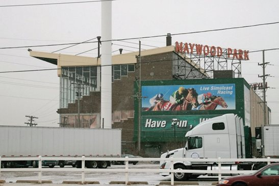Maywood Park shown in 2008. A federal judge last week denied a motion to dismiss eight counts in a lawsuit filed by the trustee of the Balmoral Racing Club Inc. and Maywood Park Trotting Association Inc. The trustee alleges the tracks' directors made millions of dollars in unlawful payments to themselves and other individuals before the bankruptcy filing in 2014.