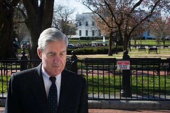 Special Counsel Robert Mueller walks past the White House after attending services at St. John's Episcopal Church, in Washington, D.C., Sunday. Mueller closed his long and contentious Russia investigation with no new charges, ending the probe that has cast a dark shadow over Donald Trump's presidency.