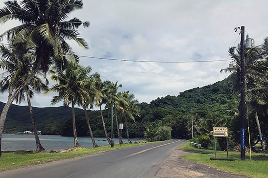 A tree-lined street on Tutuila, the largest island in the American Samoa archipelago. A U.S. judge recently sided with three American Samoans in Utah wanting to be recognized as citizens. The American Samoa government is expected to appeal, and has until Monday to do so. Many in the U.S. territory are perfectly happy being U.S. nationals who can't vote in most federal elections or run for office outside American Samoa.