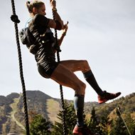 Amelia R. Boone, a corporate restructuring attorney, takes on a rope climb during the 2013 Spartan World Race Championships in Vermont. Boone won first place in the women's division and will defend her title in September. Boone also regularly tweets about her racing adventures at @ameliaboone.