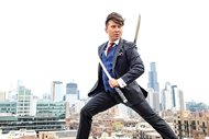 Taking the term sharp-dressed to a whole new level, Donald H. Kiolbassa accessorizes his three-piece suit with two katanas. Outside of his work as a real estate attorney and CPA, Kiolbassa is a classically trained martial artist, author and anti-bullying advocate.