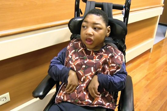 Gerald Sallis, 5, is the plaintiff in a record-setting $101 million birth-injury verdict reached Tuesday at the Daley Center.