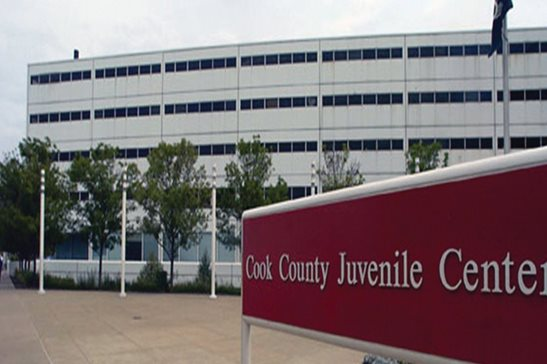 "The Cook County Juvenile Temporary Detention Center on Chicago's Near West Side. A federal judge held the 11th Amendment shields Cook County's chief judge from claims that inmates' rights were violated when a TV crew filmed the show ""Empire"" at the JTDC."