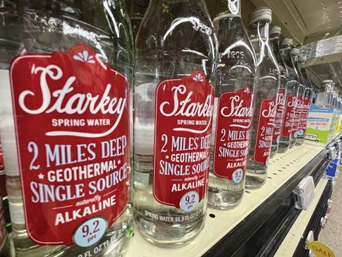 Bottles of Starkey Spring Water at the Whole Foods in Vernon Hills. Last week a federal judge tossed a consumer fraud lawsuit against grocery company and its marketing subsidiary that alleged it misled Illinois customers on the premium brand of water, saying it contains high levels of arsenic.