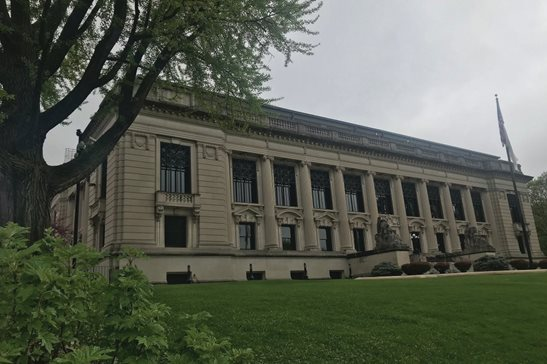 The Illinois Supreme Court building in Springfield. The court's September term starts Tuesday, and will include oral arguments in 17 cases heard across five days this month.