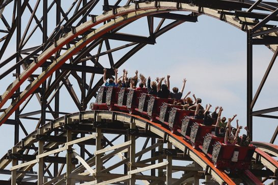 A coaster at Six Flags Great America in 2015. The Illinois Supreme Court will hear a case on whether the Gurnee amusement park violated consumer privacy laws by printing too many digits of credit card numbers on customers' food receipts.