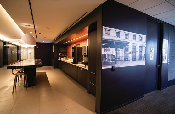 "A shot of the renovated Dentons' office in Willis Tower, a deal brokered by CBRE. In early November, CBRE released its 2019 study ""A Shifting Landscape"" dealing with 2019 national legal sector trends. The report shows that firms are signing shorter-term leases and moving to one-sized offices."